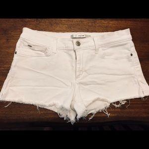 Joes jeans white denim cutoff shorts
